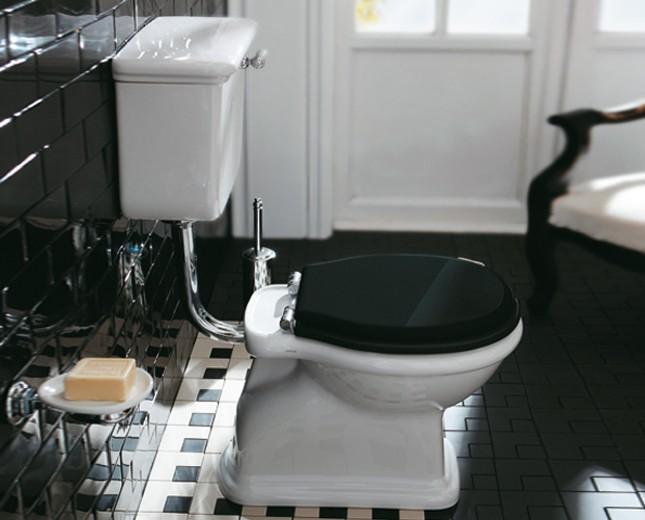 Hervorragend Nostalgie Keramik WC-Becken Latium mit hängendem Spülkasten SV75