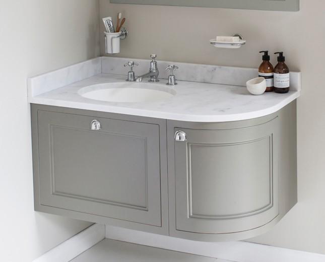 retro waschtisch mit unterbau minerva 100 curved left. Black Bedroom Furniture Sets. Home Design Ideas