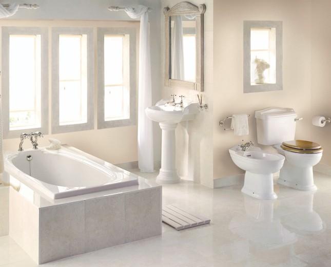Nostalgie Waschtisch, Traditioneller Waschtisch Mit Standsäule, Badezimmer