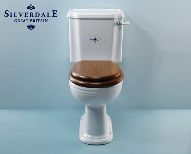 Berühmt Nostalgie WC-Becken mit aufgesetztem Spülkasten, traditionelles WC OV81
