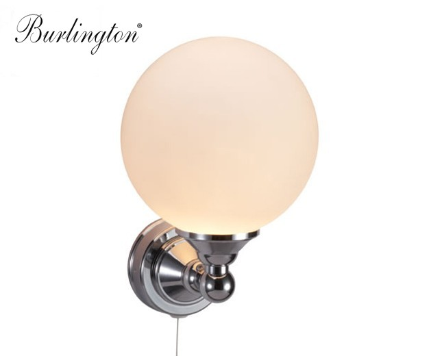 Nostalgie LED-Badezimmer-Lampe Edwardian Round,klassisches ...