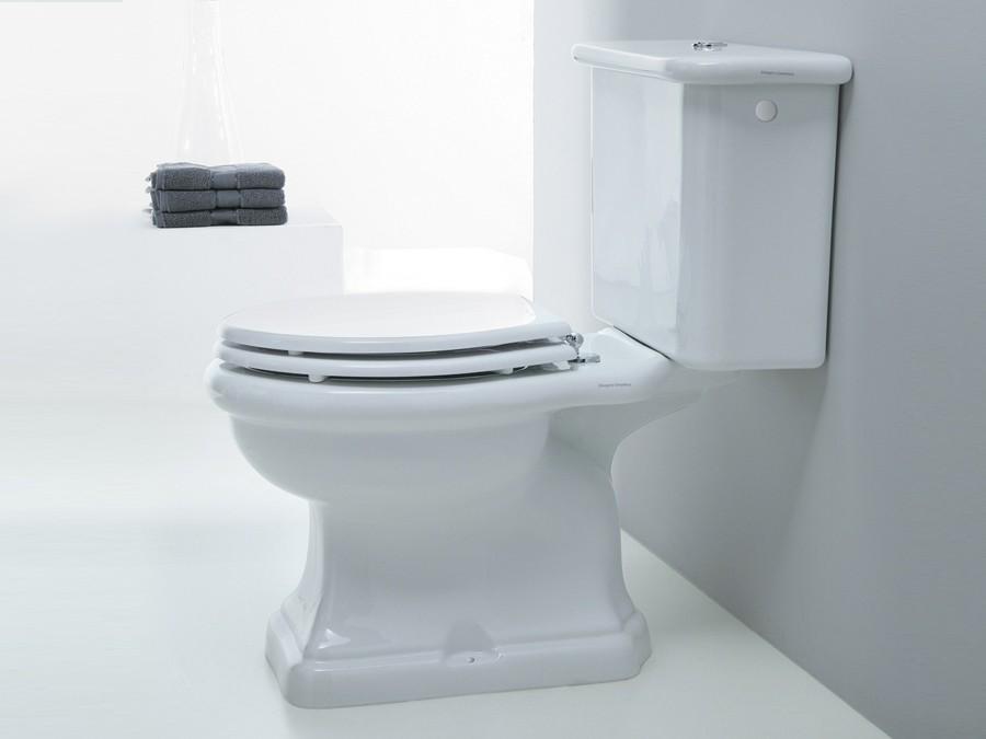 Wc wc becken nostalgie design traditionelle - Wand wc mit aufgesetztem spulkasten ...