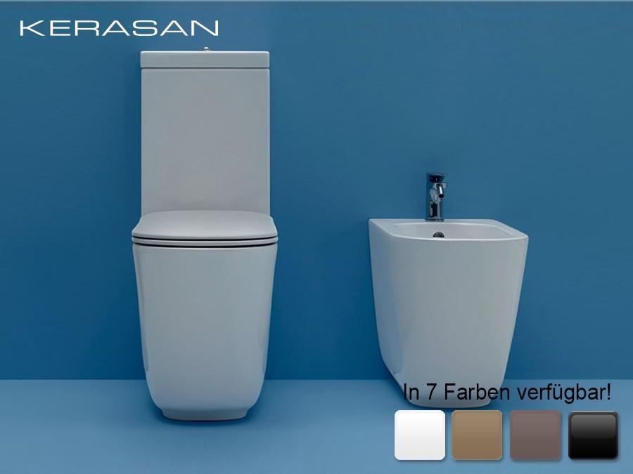 Favorit wc-becken, tribeca, kerasan, modern, design, 1-loch, bodenstehend DY55