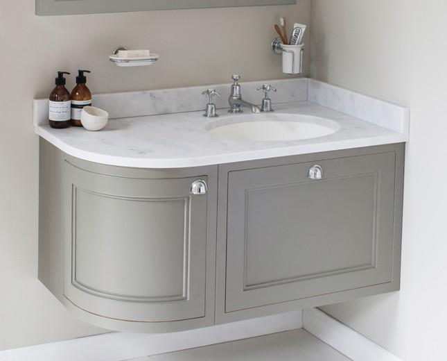 nostalgie keramik waschtisch mit unterbau minerva 134 curved drawer classic stone. Black Bedroom Furniture Sets. Home Design Ideas