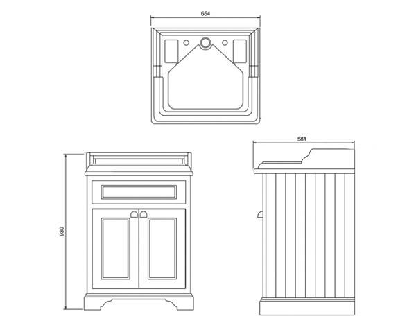retro keramik waschtisch arcade mit fahrrad unterbau. Black Bedroom Furniture Sets. Home Design Ideas