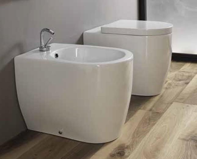 Keramik Design Bidet Becken Skip Bodensetehend