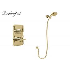 Nostalgie Unterputz Duscharmatur 1-Weg RIV20 R1SV Riviera Gold