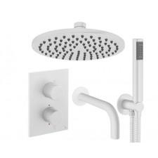 Design Unterputz Duscharmatur / 3 Wege MPRO White
