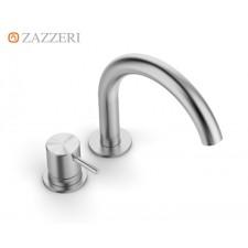 Design Zweiloch-Waschtischarmatur Zazzeri Z316 mit Bogenauslauf
