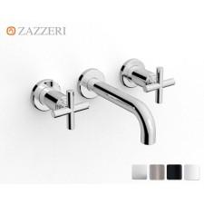 Design Dreiloch Waschtischarmatur Zazzeri DaDa 2 zur Wandmontage Small