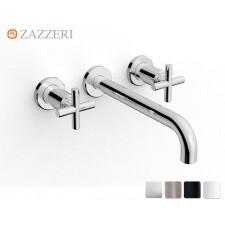 Design Dreiloch Waschtischarmatur Zazzeri DaDa 2 zur Wandmontage