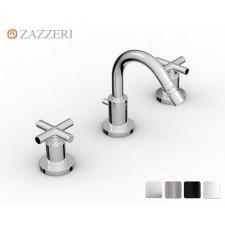 Design Dreiloch Bidetarmatur Zazzeri DaDa 2 mit Bogenauslauf