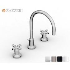 Design Dreiloch Waschtischarmatur Zazzeri DaDa 2 mit Bogenauslauf