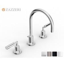 Design Dreiloch Waschtischarmatur Zazzeri DaDa 3 mit Bogenauslauf