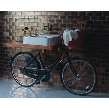 Nostalgie Keramik Waschtisch Arcade mit Fahrrad Unterbau