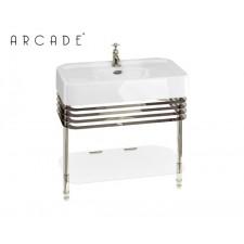 Nostalgie Keramik Waschtisch Arcade mit Edelstahlgestell Large