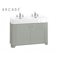Nostalgie Keramik Doppel Waschtisch mit Unterbau Arcade