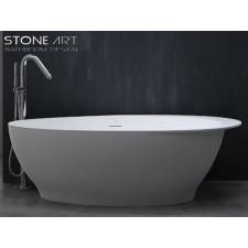 Freistehende Design Badewanne aus Mineralguss Kerry