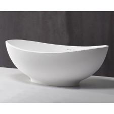 Freistehende Design Badewanne aus Mineralguss Tropic