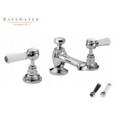 Retro Dreiloch Waschtischarmatur Bayswater Lever