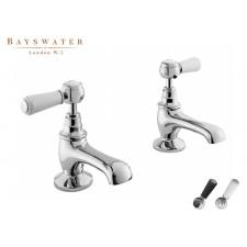 Retro Zweiloch Waschtischarmatur Bayswater Lever