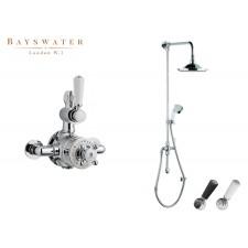 Retro Aufputz-Duscharmatur Bayswater Grand Regid 2 Wege