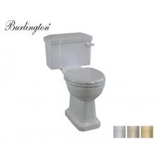 Retro Keramik WC-Becken Classic mit aufgesetztem Spülkasten Moon Grey