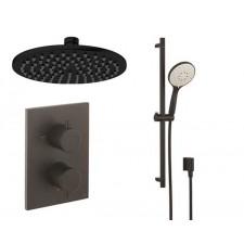 Design Unterputz Duscharmatur MPRO Black / 2 Wege