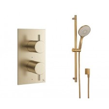 Design Unterputz Duscharmatur MPRO Brass / 1 Weg