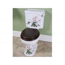 Nostalgie WC-Becken Victorian Garden mit aufgesetztem Spülkasten