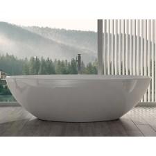 Freistehende Nostalgie Badewanne aus Mineralguss Cella XL