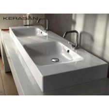 Keramik Doppelwaschbecken Cento 140