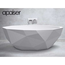 Freistehende Design Badewanne aus Mineralguss Marmor Bijoux