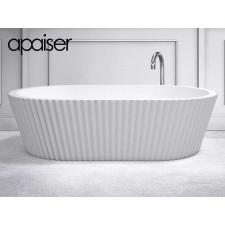 Freistehende Design Badewanne aus Mineralguss Marmor Origami