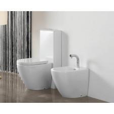 Design Keramik WC-Becken Cover mit aufgesetztem Spülkasten L