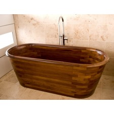 Freistehende Holz Badewanne Cromarty