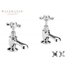 Retro Zweiloch Waschtischarmatur Bayswater Crosshead