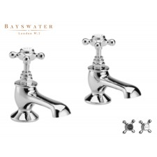Retro Zweiloch Wannenrandarmatur Bayswater Crosshead