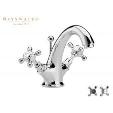Retro Einloch Waschtischarmatur Bayswater Crosshead