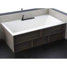 Freistehende Design Badewanne aus Mineralguss Barna Wood