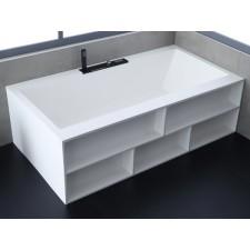 Freistehende Design Badewanne aus Mineralguss Barna