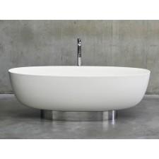Freistehende Badewanne aus Clearstone Puro Plinth