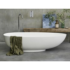 Freistehende Badewanne aus Clearstone Teardrop Grande