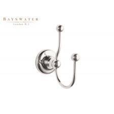 Retro Doppel-Kleiderhaken Bayswater