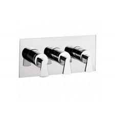 Design Dreigriff Unterputz Duscharmatur Essence / 2 Wege horizontal