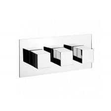 Design Dreigriff Unterputz Duscharmatur Square Horizontal / 2 Weg