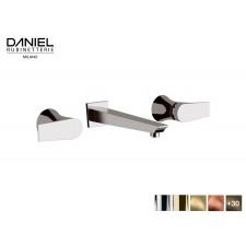 Design 3-Loch Waschtischarmatur zur Wandmontage Diva