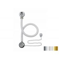 Ab- und Überlaufgarnitur mit Kette und Stöpsel Flexibel