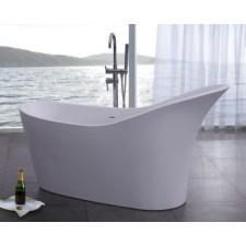 Freistehende Design Badewanne aus Mineralguss Classic