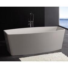 Freistehende Design Badewanne aus Mineralguss Geo